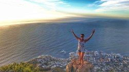 Lions Head hike in flip flops - Cape Town, South Africa